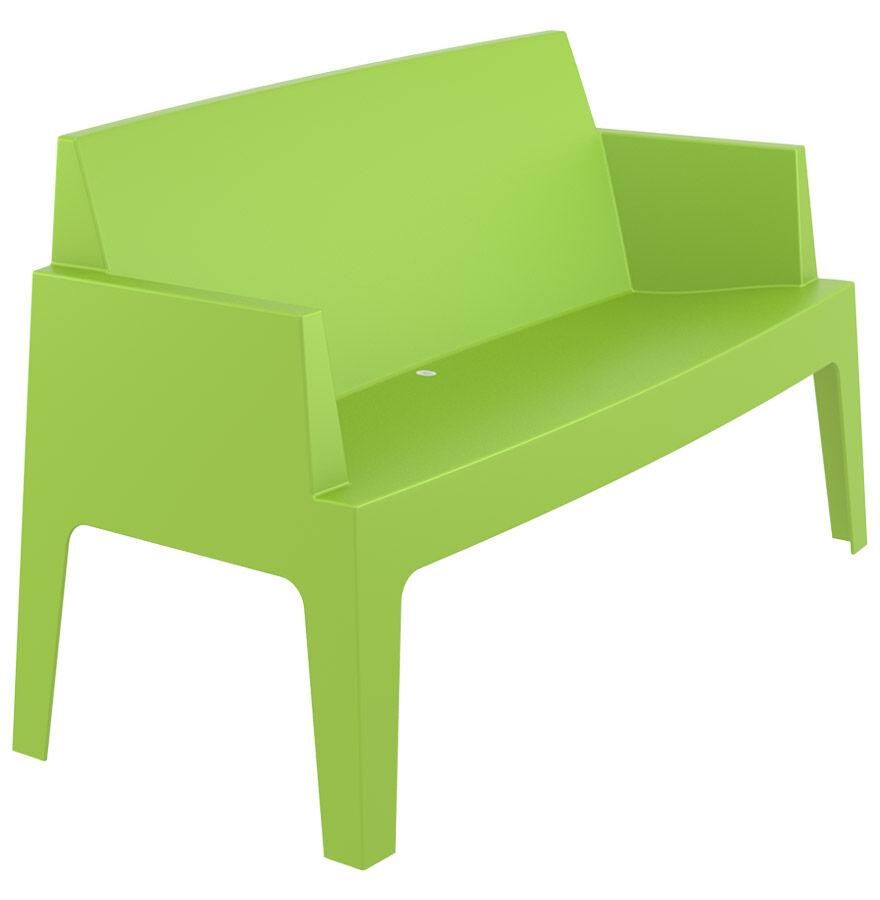 Alterego Banc de jardin 'PLEMO XL' vert en matière plastique