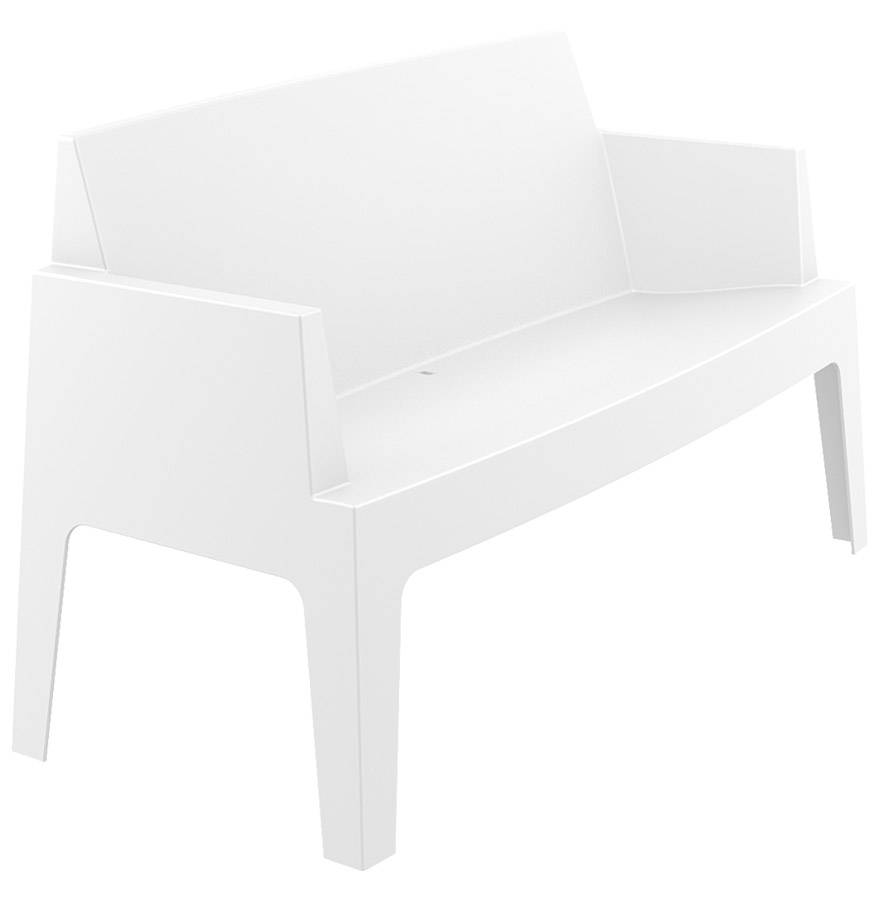 Alterego Banc de jardin 'PLEMO XL' blanc en matière plastique