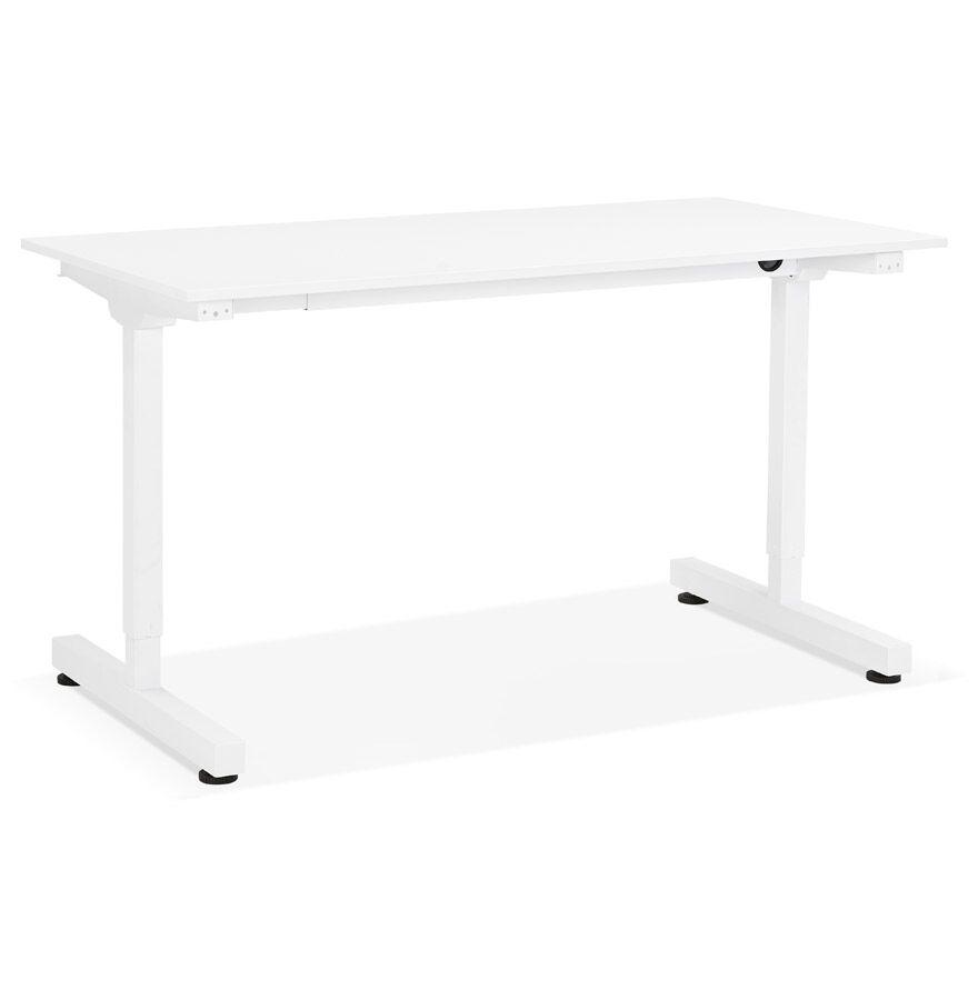 Alterego Bureau assis/debout droit 'STAND UP' blanc réglable en haute