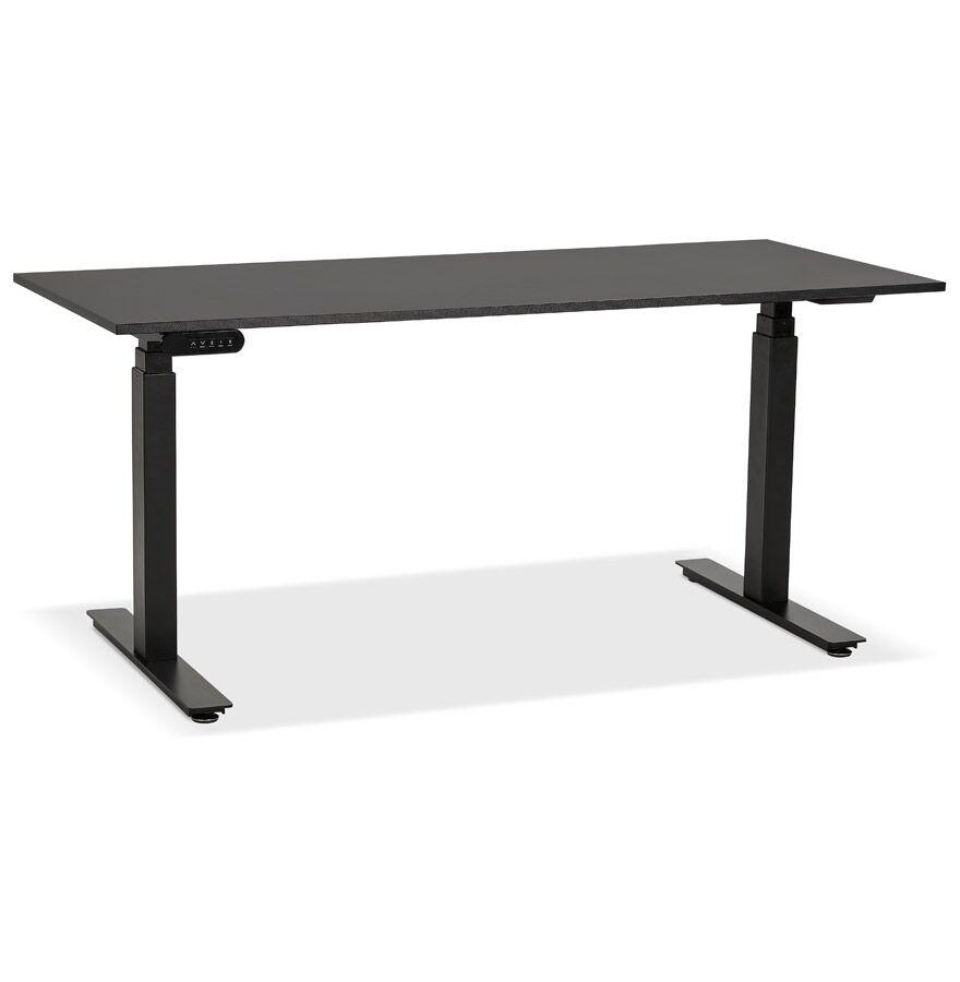 Alterego Bureau ergonomique électrique 'TRONIK' noir - 160x80 cm