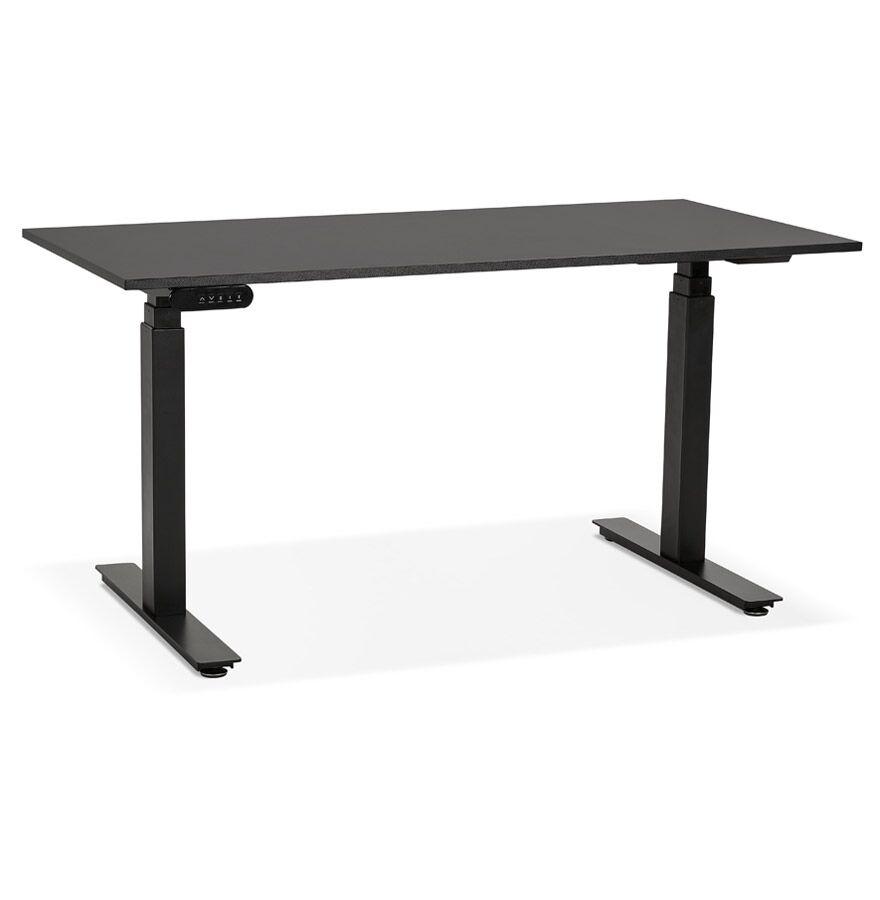 Alterego Bureau assis debout électrique 'TRONIK' noir - 140x70 cm