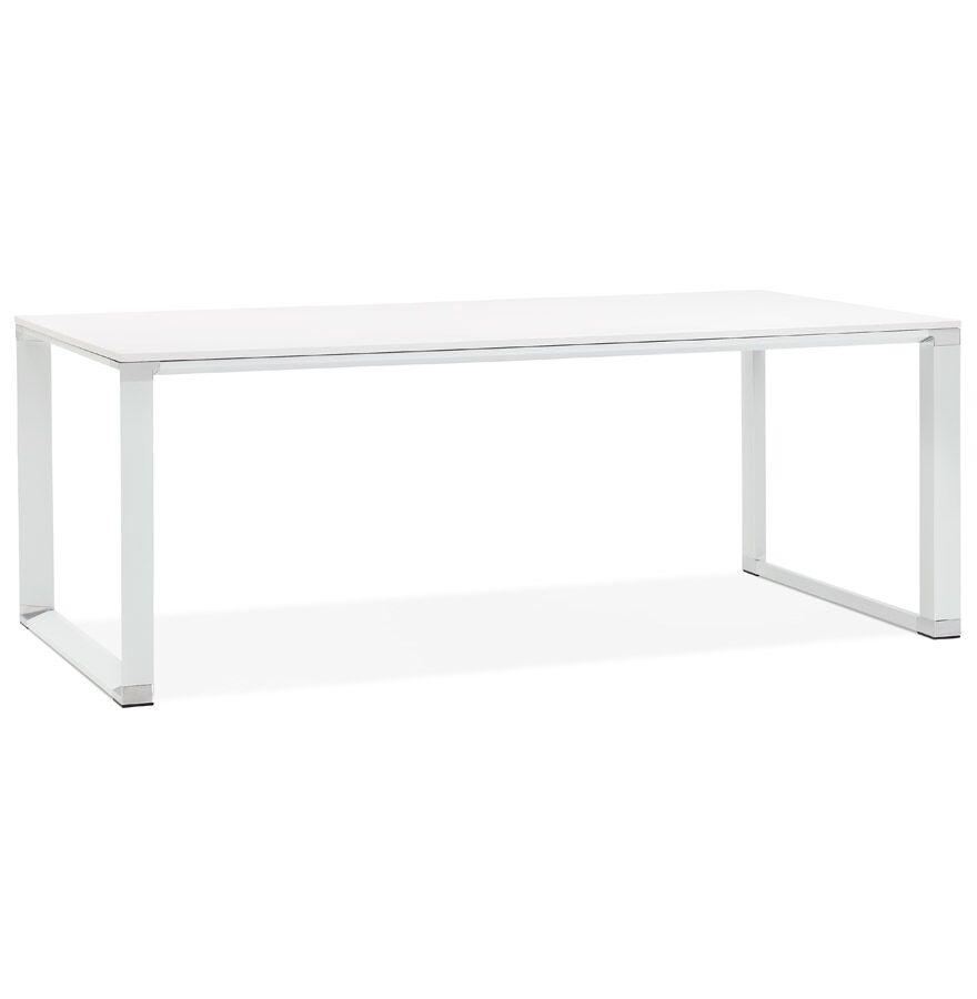 Alterego Grand bureau de direction droit 'XLINE' en bois blanc - 200x
