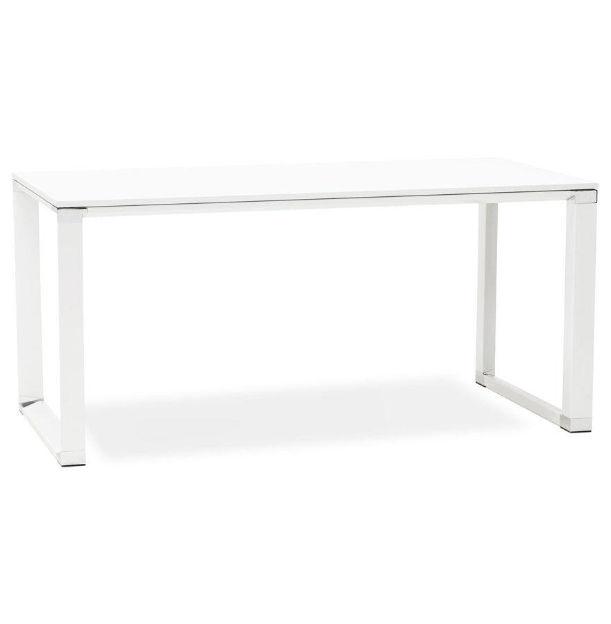 Alterego Bureau de direction droit design 'XLINE' en bois blanc - 160