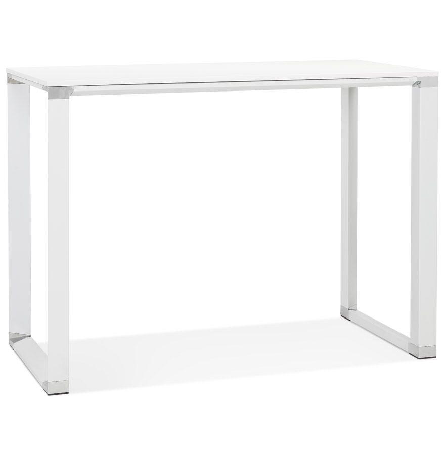Alterego Table haute / bureau haut 'XLINE HIGH TABLE' en bois blanc -