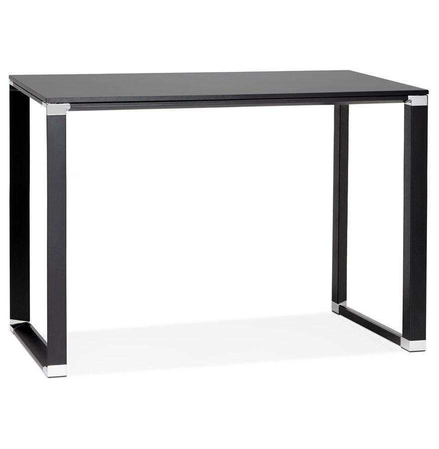 Alterego Table haute / bureau haut 'XLINE HIGH TABLE' en bois noir -