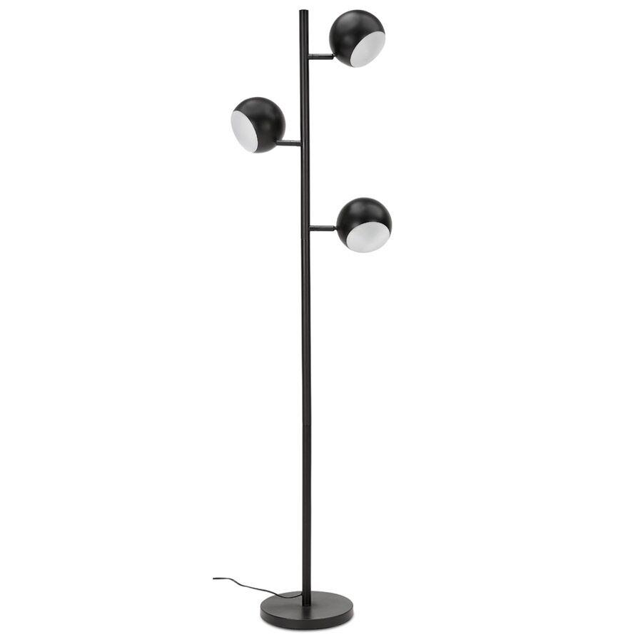 Alterego Lampe sur pied 'TRYA' avec 3 abat-jours orientables en métal