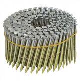 NORFIX Pointes en Rouleau NORFIX 16° Plat Zingué bichromaté 13µ annelées - Liaison fil cuivré (70 x 2.5 mm)