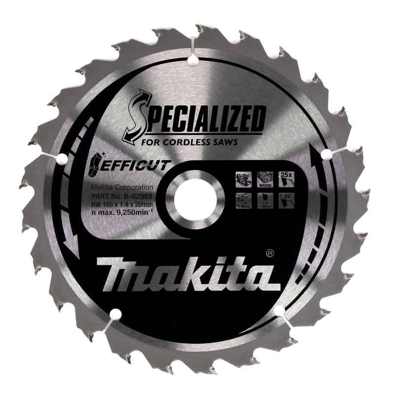 MAKITA Lame de scie circulaire MAKITA B-62985 SPECIALIZED EFFICUT accu Ø165mm