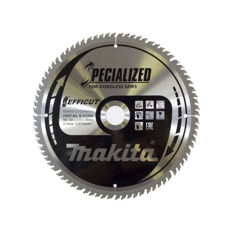 MAKITA Lame de scie circulaire MAKITA B-67290 SPECIALIZED EFFICUT accu Ø260mm