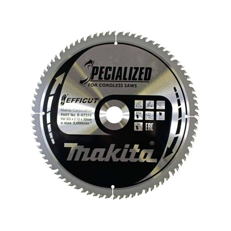 MAKITA Lame de scie circulaire MAKITA B-67315 SPECIALIZED EFFICUT accu Ø305mm