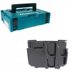 MAKITA Mak-Pac taille 1 MAKITA + Moulage 838110-1 pour Batterie et Chargeur