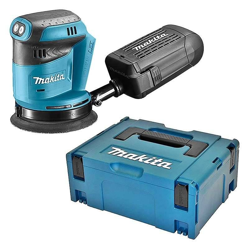 MAKITA Ponceuse Excentrique MAKITA DBO180ZJ 125 mm à Batteries LXT 18 V (machine nue)