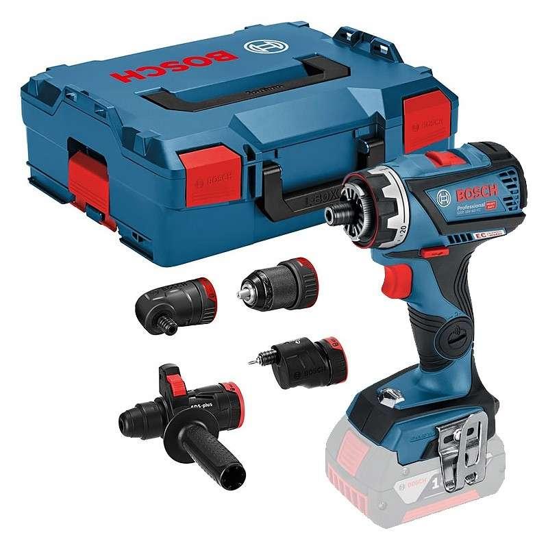 BOSCH PRO Perceuse Visseuse sans fil BOSCH GSR 18V-60 FC Professional 18V (Machine Nue) + Embout Perforateur GFA 18-H