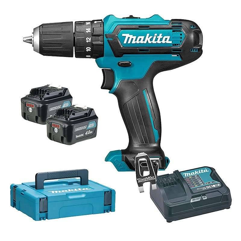 MAKITA Perceuse Visseuse à Percussion MAKITA HP331DSMJ 10,8 V Li-ion CXT (2 x 4 Ah)
