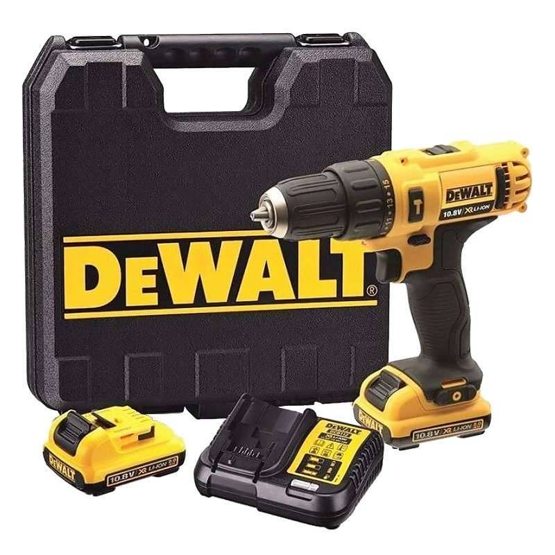 DEWALT Perceuse à percussion DEWALT DCD716D2 10,8V (2x2Ah) Li-Ion mandrin 10mm