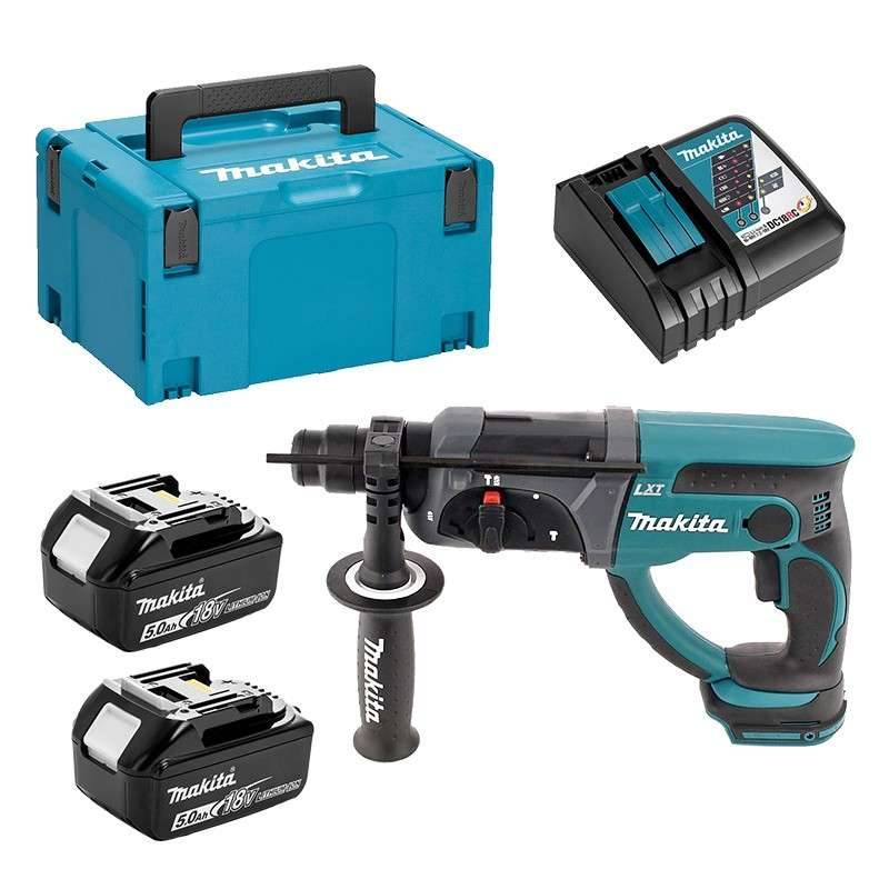 MAKITA Perforateur Burineur SDS-Plus MAKITA DHR202RTJ 18 V 2 x 5.0 Ah LXT