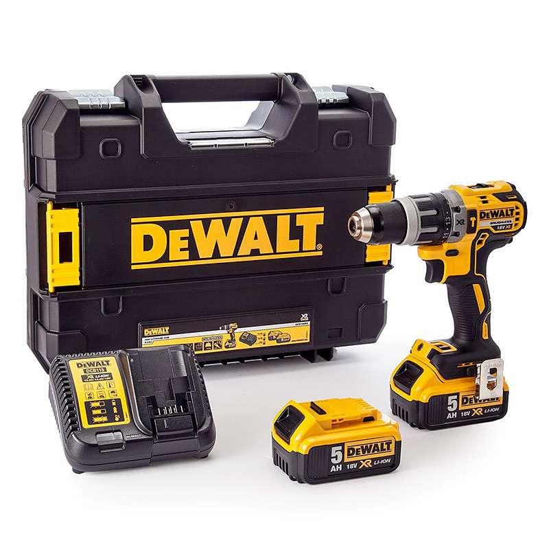DEWALT Perceuse Visseuse à Percussion DEWALT DCD796P2 18 V XR Brushless 2 x 5,0 Ah