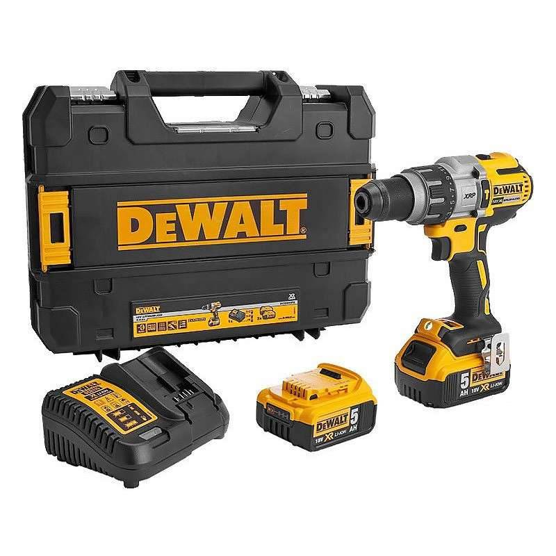 DEWALT Perceuse Visseuse Percussion DEWALT DCD996P2 18 V XR (2 x 5 Ah)