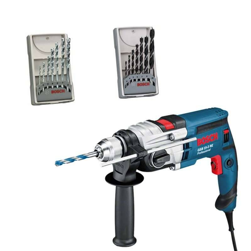 BOSCH PRO Perceuse à Percussion BOSCH GSB 19-2 RE Professional 850 W