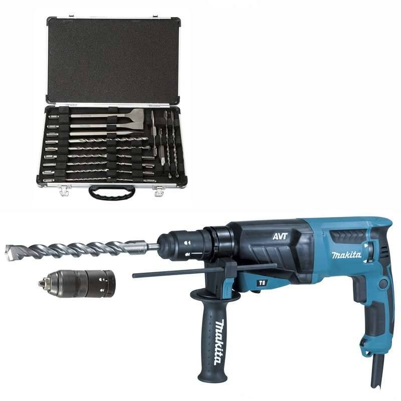 MAKITA Marteau Perforateur Burineur MAKITA HR2631FT12 pour SDS-Plus + Coffret D-42444