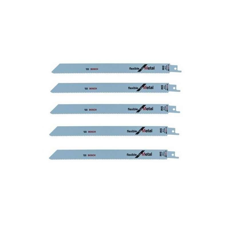 BOSCH PRO Lot de 5 lames de scie sabre S 1122 BF BOSCH 2608656019 pour métal