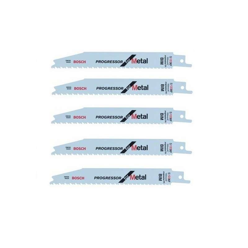 BOSCH PRO Lot de 5 lames de scie sabre S 123 XF BOSCH 2608654402 pour métal