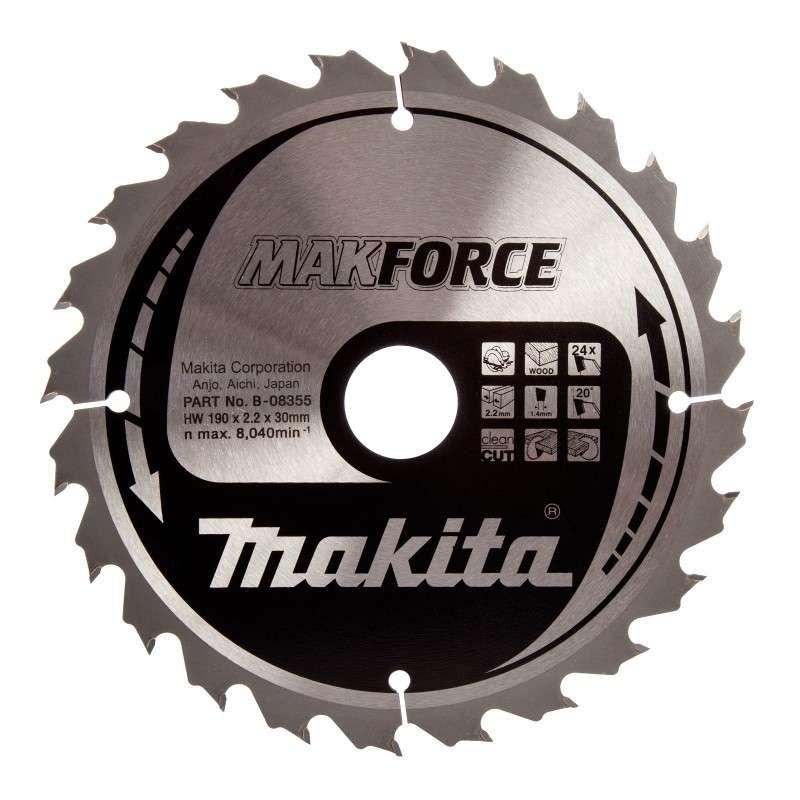 MAKITA Lame carbure MAKITA B-08355 MakForce Ø 190mm pour bois et pour scies circulaires
