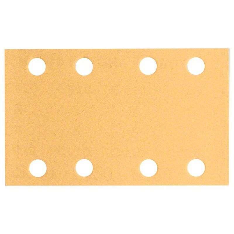 BOSCH PRO Pack de 10 feuilles abrasives BOSCH C470 pour ponceuse vibrante 80 x 133 mm Best for Wood and Paint 8 trous - Grain - 40