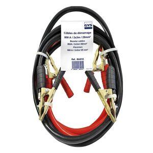 GYS Cable de demarrage 500A 2x3m Ø25mm² Pinces Pro Laiton Pur GYS 564015 - Publicité