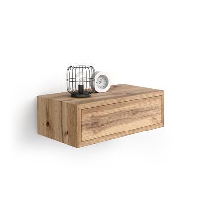 Mobili Fiver Table de chevet suspendue Riccardo, Bois Rustique