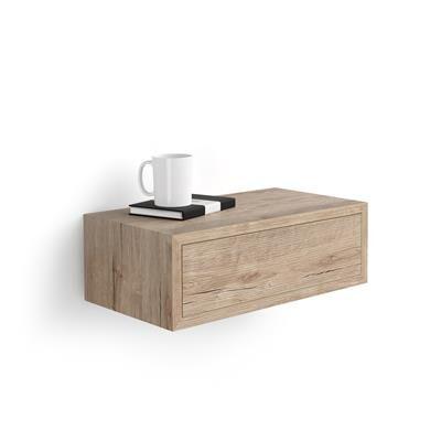 Mobili Fiver Table de chevet suspendue Riccardo, Chêne