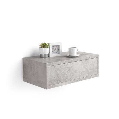 Mobili Fiver Table de chevet suspendue, Riccardo, Gris Béton