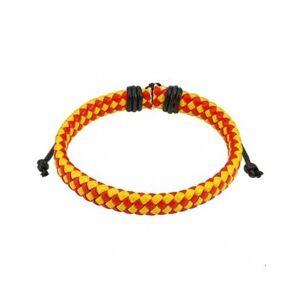 HommeBijoux Bracelet réglable homme cuir couleur drapeau espagne rouge jaune foot - Publicité