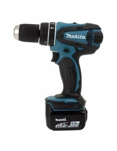 Makita Perceuse visseuse à percussion sans fil 14,4 V Li-Ion 4 Ah Ø 13 mm DHP446RMJ - Makita