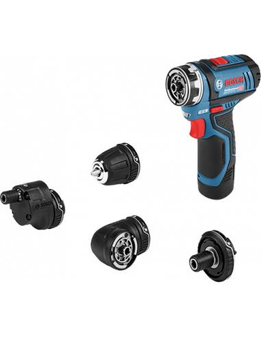 Bosch Perceuse-visseuse sans-fil GSR 12V-15 FC Solo + Set accessoires - 06019F6003 - Bosch