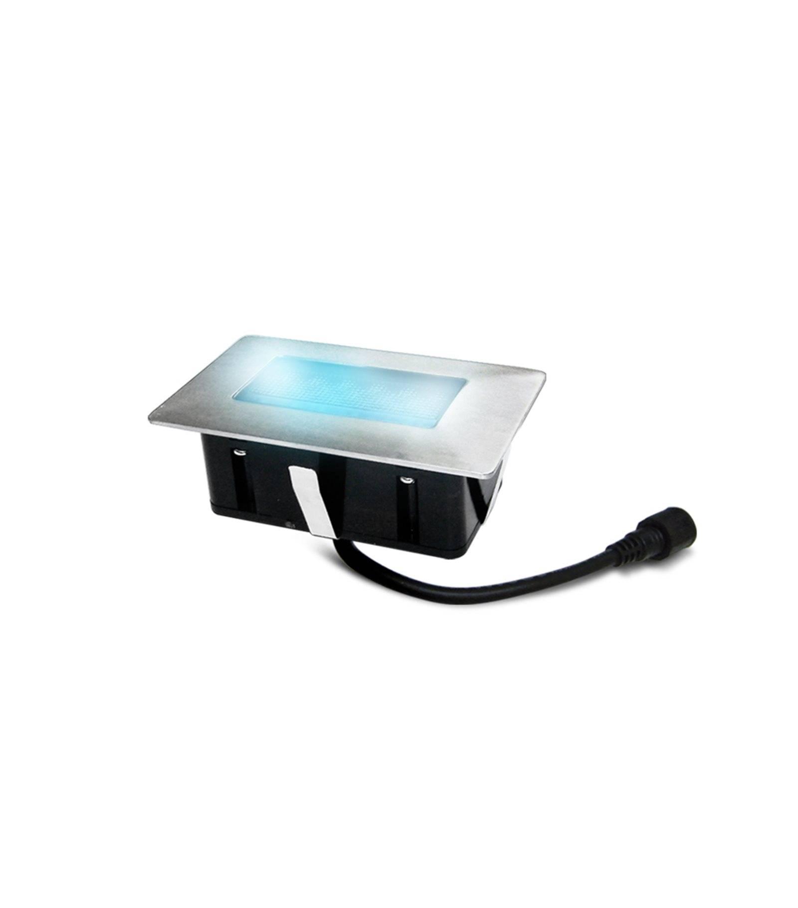 Easy Connect Mini Spot encastrable rectangle 6x10cm Inox Mini DECK Light 2W LED integrés IP67 Bleu extérieur EASY CONNECT - 65441