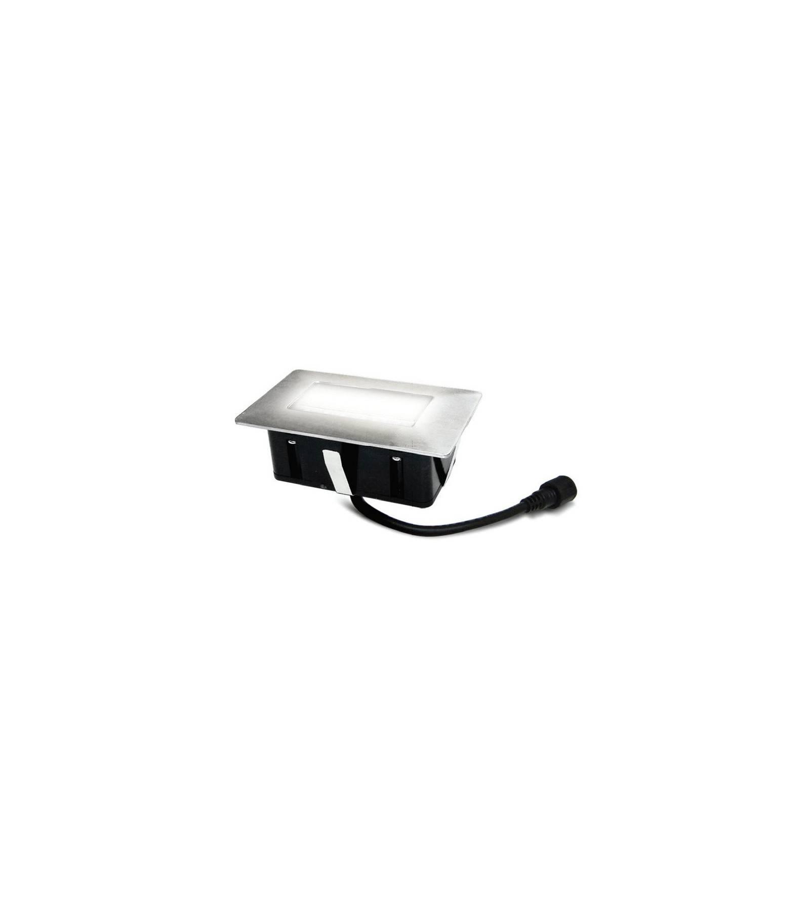 Easy Connect Mini Spot encastrable rectangle 6x10cm Inox Mini DECK Light 2W LED integrés IP67 Blanc Froid extérieur EASY CONNECT - 65440
