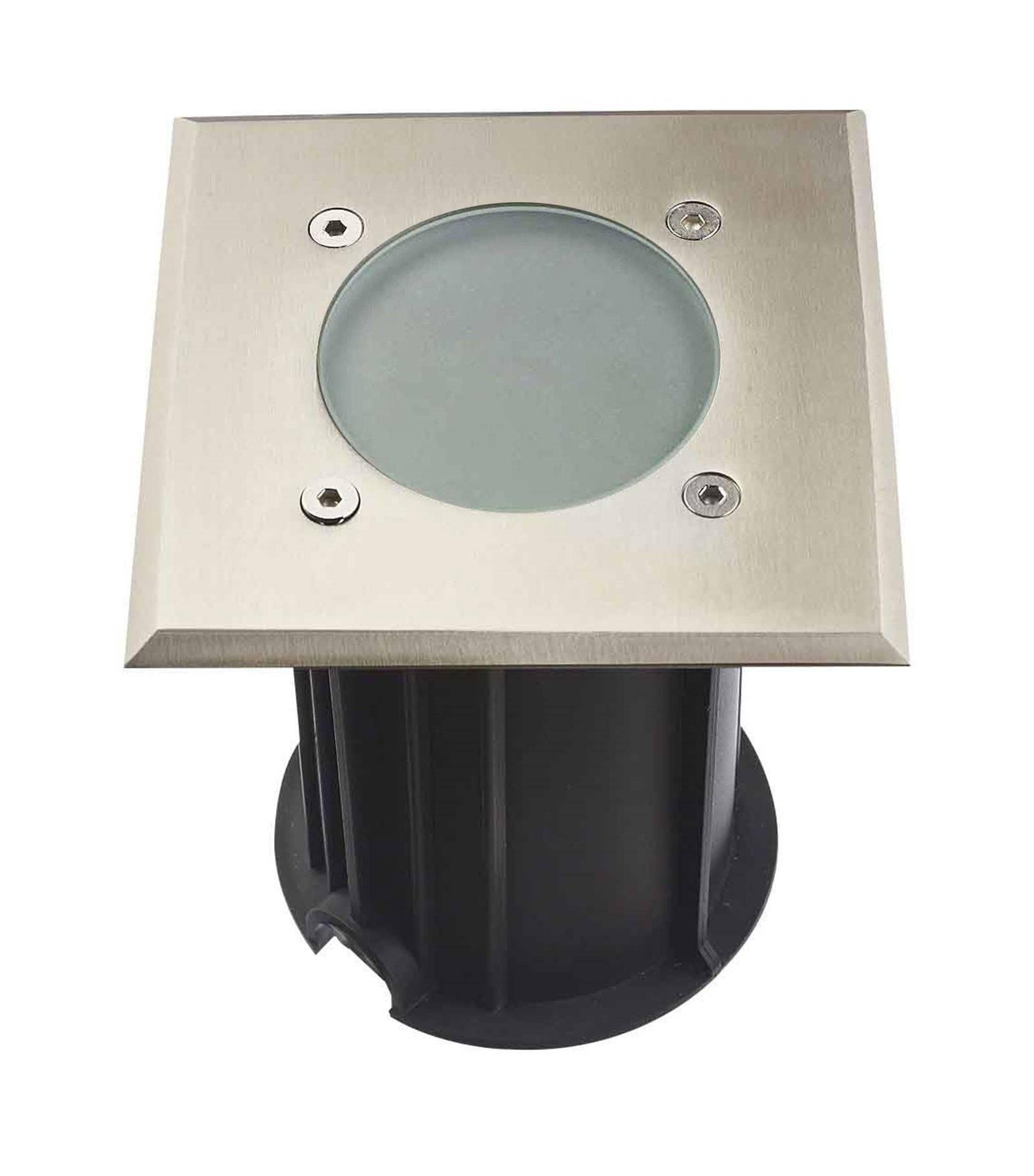 Hipow Spot encastrable Carré MIAMI Inox 316L (montage en série avec 2 presses étoupe) FROST GU10 220V IP67 HIPOW