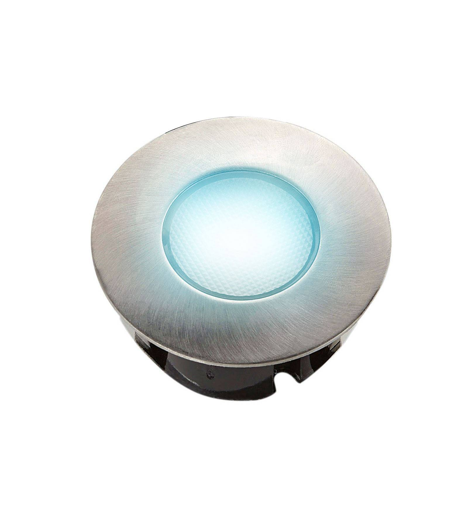 Easy Connect Mini Spot encastrable rond 7.5cm Inox Mini DECK Light 2W LED integrés IP67 Bleu extérieur EASY CONNECT - 65431