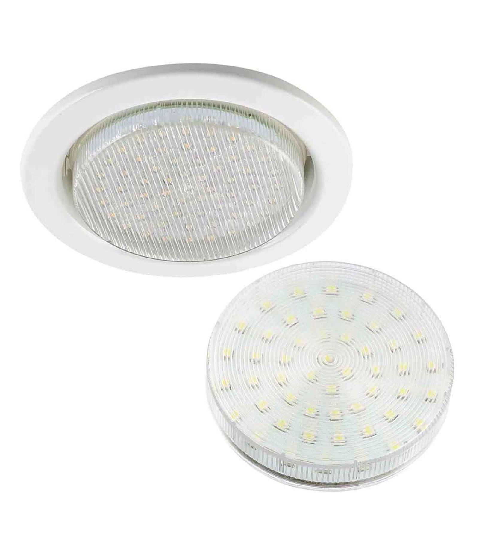 Hipow GX53 Spot encastrable rond blanc livré avec ampoule GX53 220V