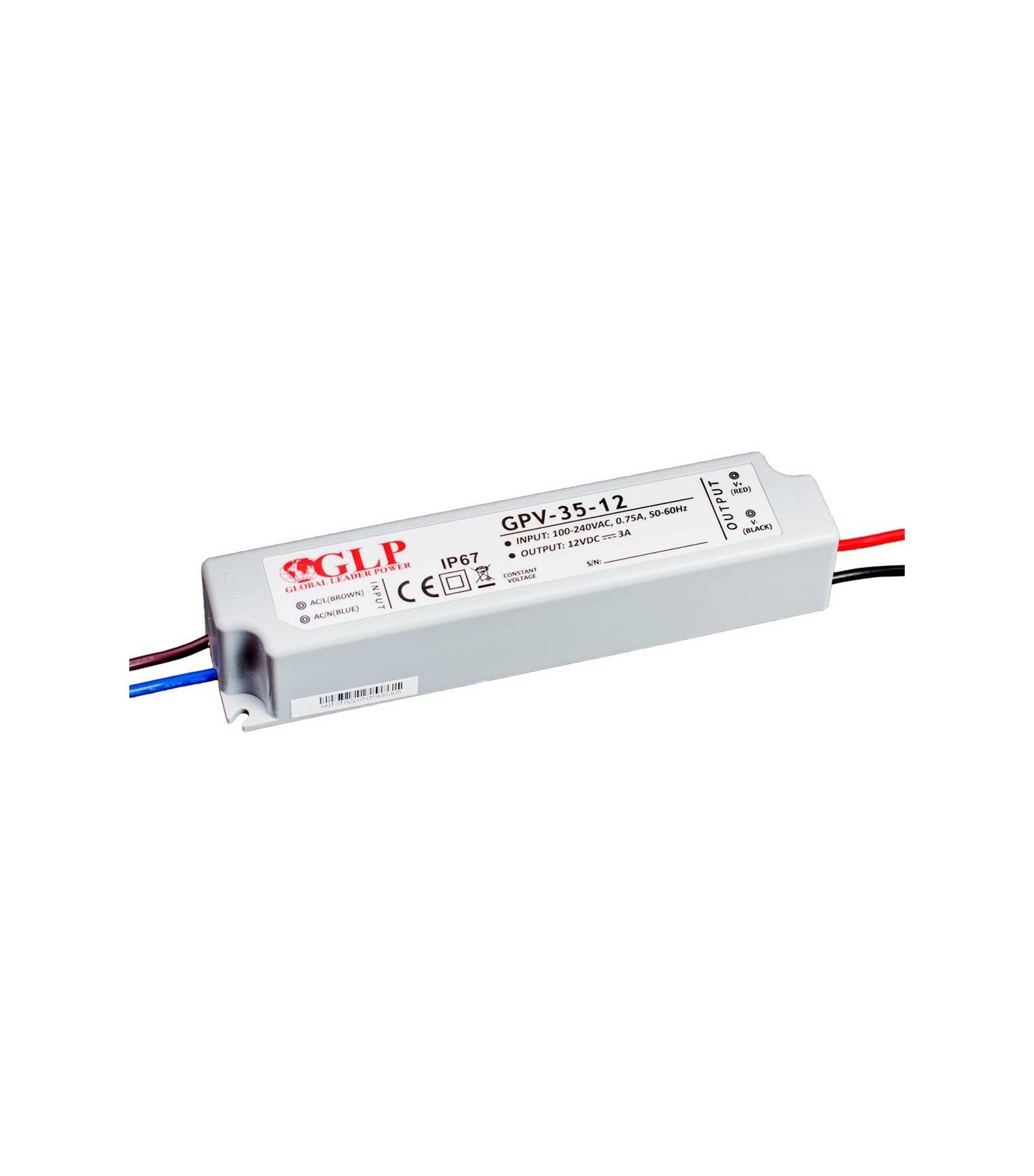 GLP Transformateur spécial Led 12V de 35W GPV-35-12 GLP - GLP-GPV-35-12