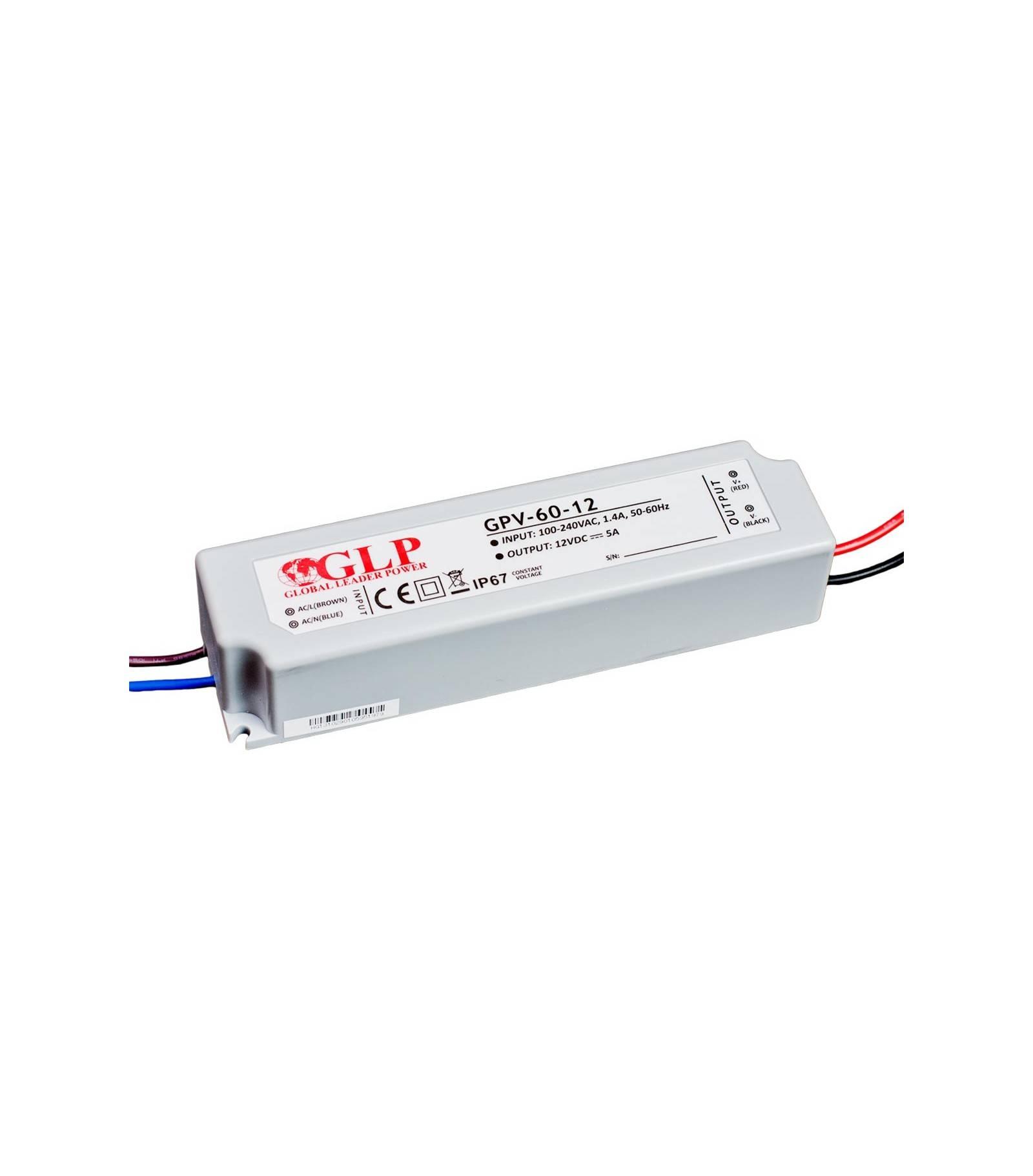 GLP Transformateur spécial Led 12V de 60W GPV-60-12 GLP - GLP-GPV-60-12