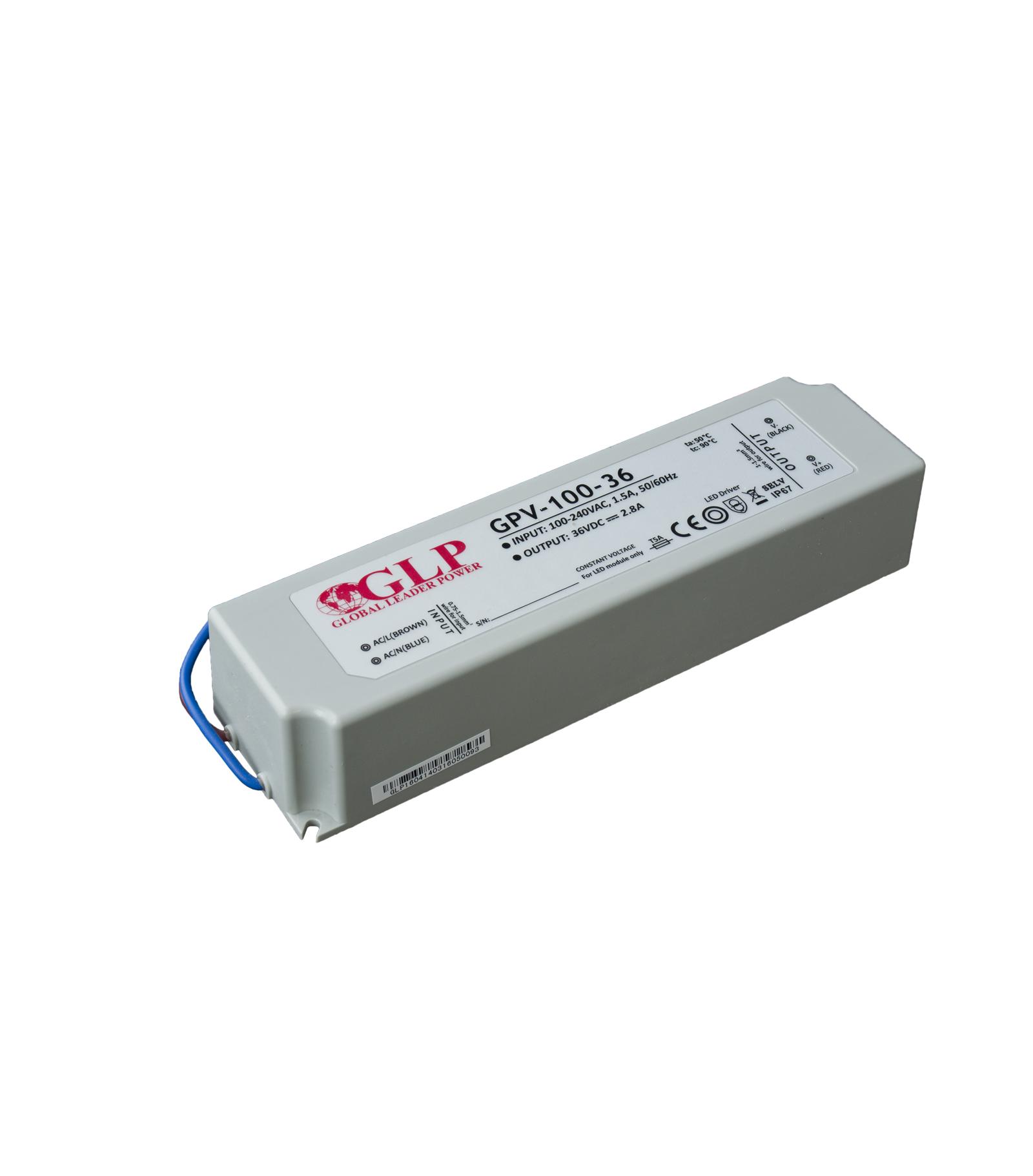 GLP Transformateur spécial Led 12V de 100W GPV-100-36 GLP - GLP-GPV-100-36