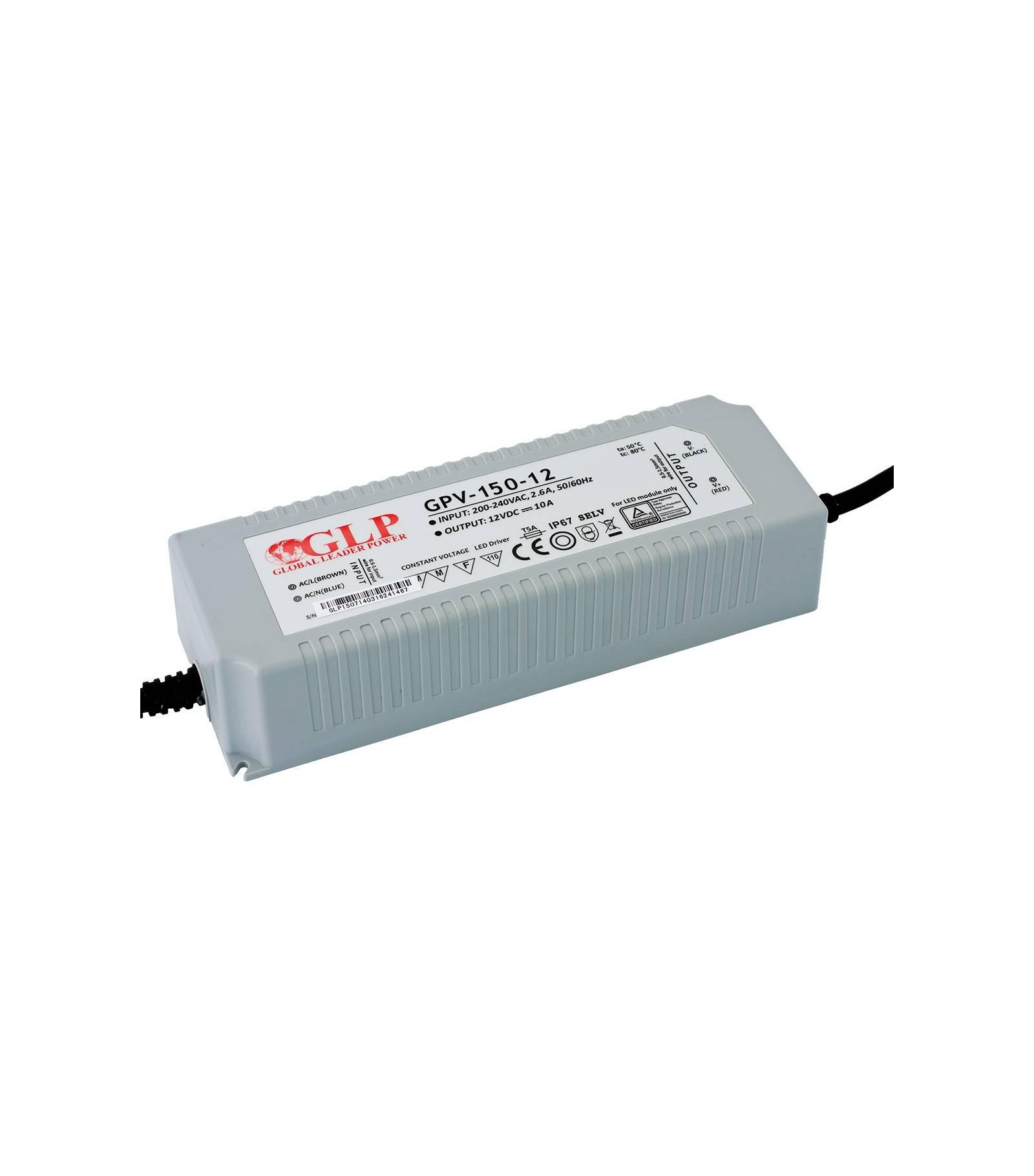 GLP Transformateur spécial Led 12V de 150W GPV-150-12 GLP - GLP-GPV-150-12
