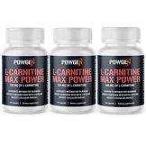 PowGen L-Carnitine 500 Max Power   1+2 OFFERT   L-Carnitine Carnipure a plus pure au marché   Programme de 3 mois   3x 60 gélules   PowGen