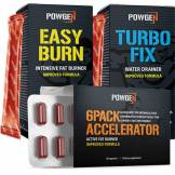 PowGen Programme 6Pack en béton - paquet brûle-graisse pour les abdominaux sculptés