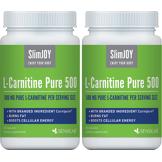 SlimJOY L-carnitine Pure 500 - brûleur de graisse.Qaulité suisse. 2x 60 gélules