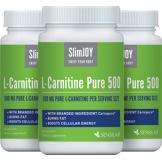 SlimJOY L-carnitine Pure 500 - brûleur de graisse.Qaulité suisse. 3x 60 gélules