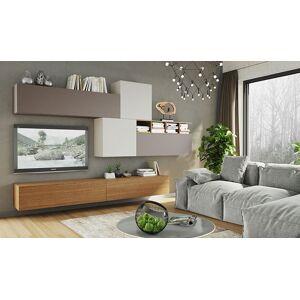 House and Garden ENSEMBLE DE MEUBLES SALON TV LAQUÉ & BOIS NATUREL - ESPACE 107 - Publicité
