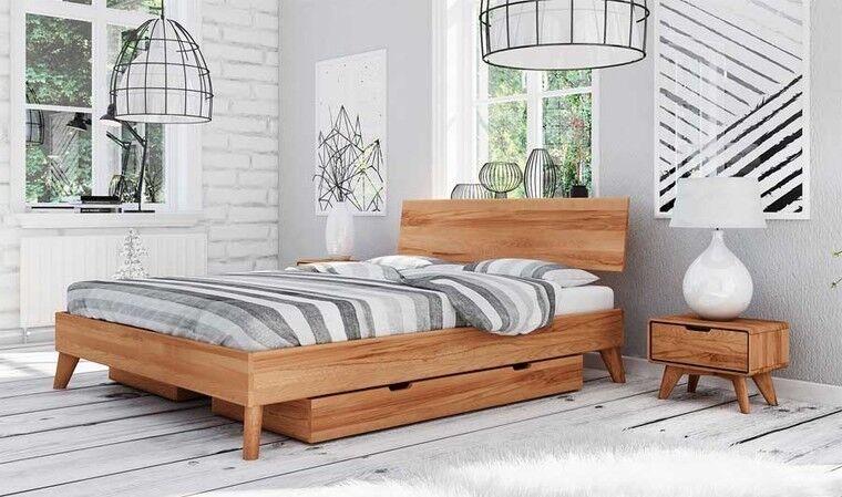 House and Garden Lit avec tiroirs de rangement en bois - Greg